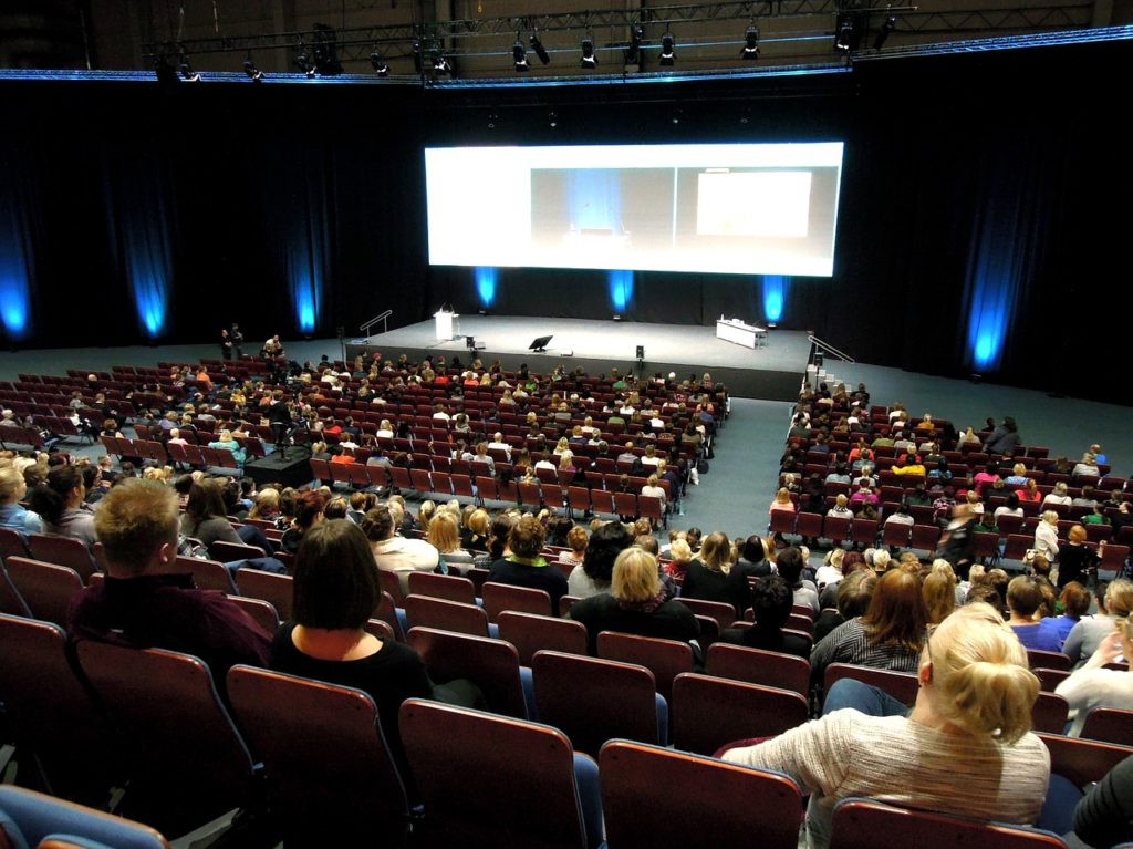 the audience, the public lecture, lecture